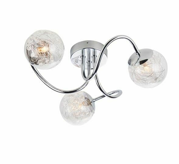 Auria 3 light chrome semi flush